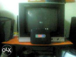 1 year used tv and decorder
