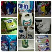 Detergents, cleaning products and more