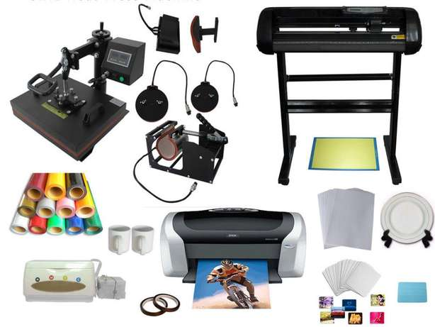Combined Branding Machines 5 in 1 Heat press n 4 feet Plotter Cutter Nairobi CBD - image 2