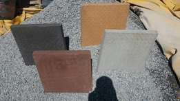 Non slip paving slabs