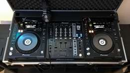 Pioneer CDJ850k and DJM750k with case