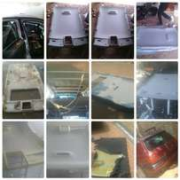 Repairs car roofs linning