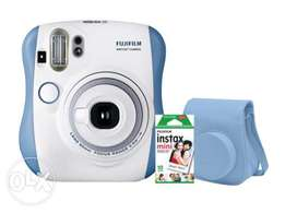 Fujifilm Instax Mini 25 White/Blue + Camera Case + Mini Film