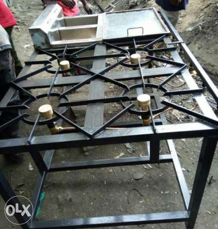 Gas cooker four barner and deep fryer double gas operated Kamukunji - image 1