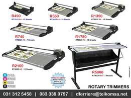 Rotary Trimmers for cutting Business Cards and Photos
