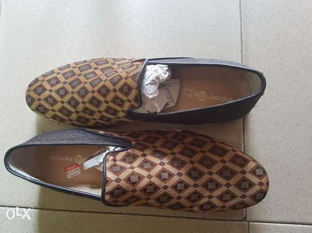 Brown and gold cocktail shoe.sizes 45&46. Ibadan South West - image 1