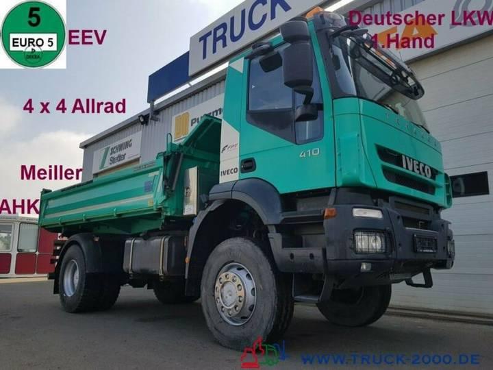 Iveco Trakker 410 4x4 Meiller 3S. 1.Hand Deutscher LKW - 2014