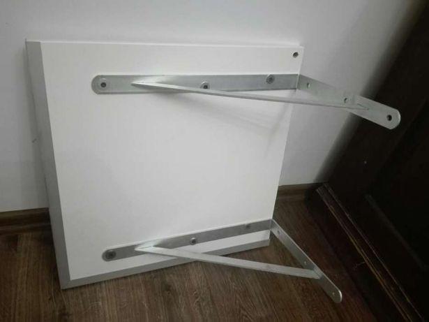 Półka Przykręcana Solidna Biała Płyta Osb Aluminium