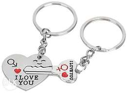 2 PCS Cute I Love You Style Key Chain