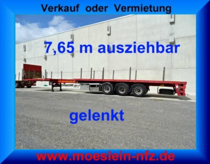 FLUO-18-27F1 3 Achs Tele- Auflieger, 7,65 m ausz - 2007