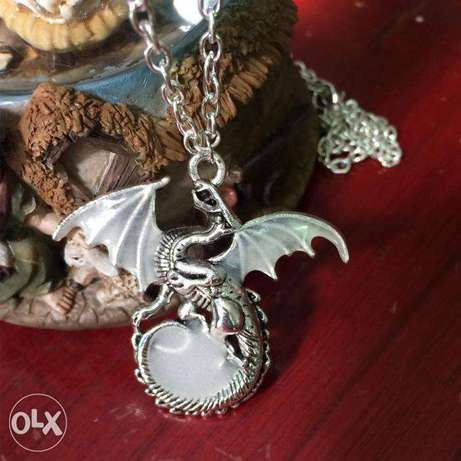 Game Of Thrones Luminous Dragon Chain Pendant Necklace Gothic Vintage Nairobi CBD - image 5