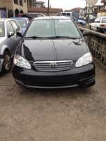 Foreign used black toyota corolla sport 06 with full option