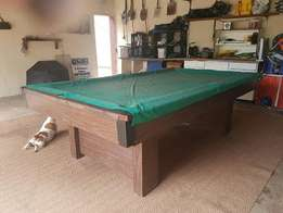 1/3 Snooker table with slate top for sale.