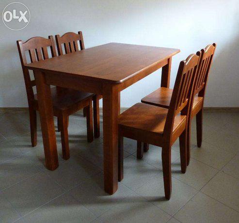 Drewniany Stół Kuchenny Z Krzeslami Do Kuchni I 4 Krzesła