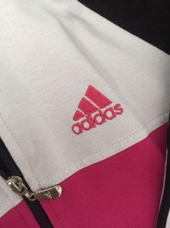 Bluza adidas damska różowy XL wypada M oryginał kołnierz