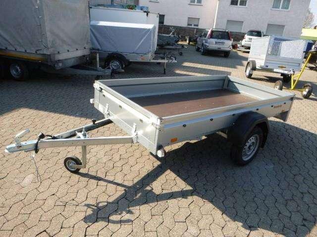 Brenderup Tieflader 2270s Stahl, 0,75 To. 2700x1300x270mm Mit Laubgitter 80 Cm