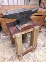 Anvil on hardwood stand