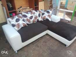 Leather seat L seater