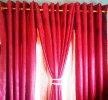 Thick Red Curtain