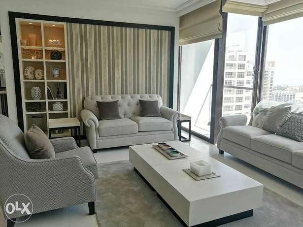 Super Modern New 2 BR FF Apartment+Balcony in Amwaj Island For Rent