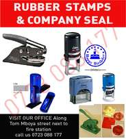 Rubber Stamps & company seal