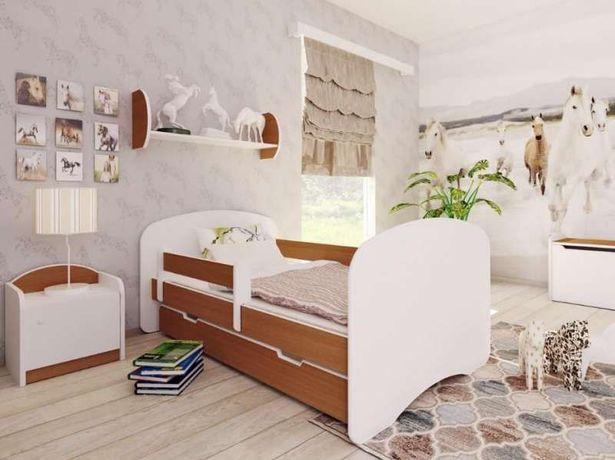 Kolorowe łóżko Dla Dzieci Bellaluni Z Szufladą Materac