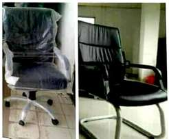 Durable Leather Swivel Office Chair. 78