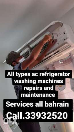 All types ac refrigerator washing machines repairs and service