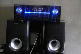 Amplifier with powerful speakers