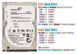 Hard disk drive SATA and SOLID STATE
