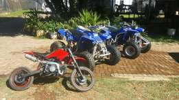 2x Yamaha blasters 200cc 6 speed 125cc monster pitbike
