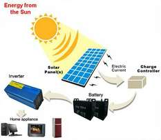 Complete solar energy system - 24 Hours up time