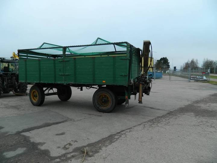 4-hjulsvagn Med Kran