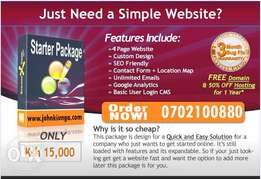 Web Design, FREE Domain, 30%OFF Hosting 1 Year