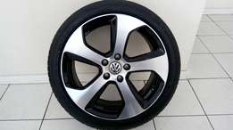 VW Golf 7 GTI 18' Original Mag & Tire (1 x Mag & Tire only)