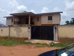 Block of 4flat for sale in benin city, land size of 150/100 for 18mill