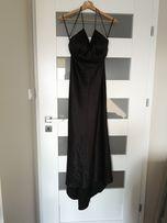 2dbcc2c3b8 Satynowa sukienka wieczorowa s m z odkrytymi plecami