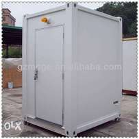 Container toilet.