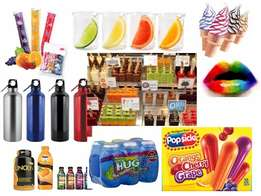 Flavours for Ice lollies, bevarages, Ice cream etc