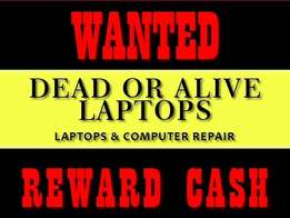 WANTED: Working & Non Working Laptops For Cash