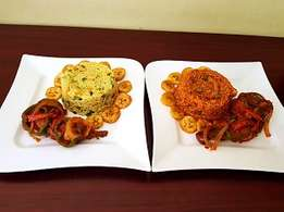 W11 Value Pack: Special Jollof Rice/ Fried Rice + Chicken + Beef +dodo