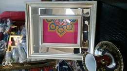 Wooden glass picture frame
