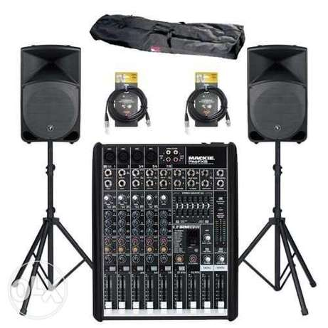 sound setting PA system for rent