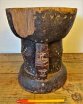 Hand carved african wooden stool