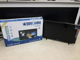 Brand new boxed and digitalised Brühm LED flat screen slim TV