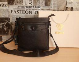 c50b1bcbd5a0a Skorzana czarny męska torba Listonoszka Versace