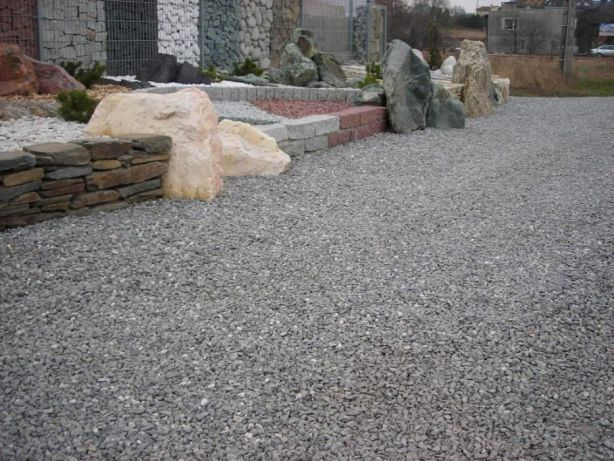 Zaawansowane Kliniec skalny grys drogowy dolomit kruszywo drogowe kamień CZ04