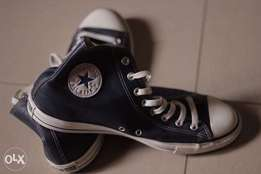 Converse All Star leather high-top sneakers (blue)