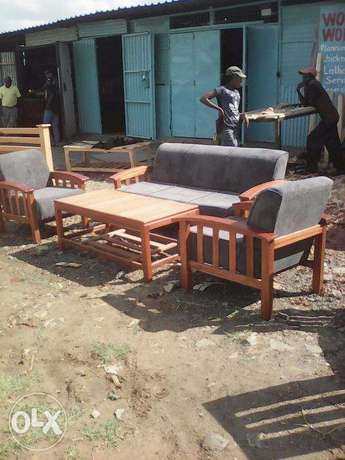 Sofa set - Frames made of Mahogany 5 seater Nairobi CBD - image 1