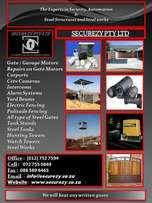 We manufacture Carports/Awnings and Steel Gates.